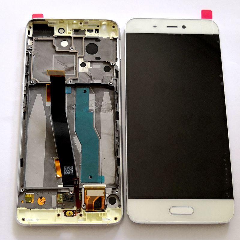 Pour Xiaomi Mi5 m5 (pas pour mi5s) écran Lcd avec écran tactile en verre numériseur cadre assemblée pièces de rechange complètes 5.15