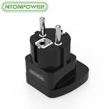 NTONPOWER UTA Universal Travel Adapter European Plug International Power Socket Wall Electrical Connector with Safety Shutter