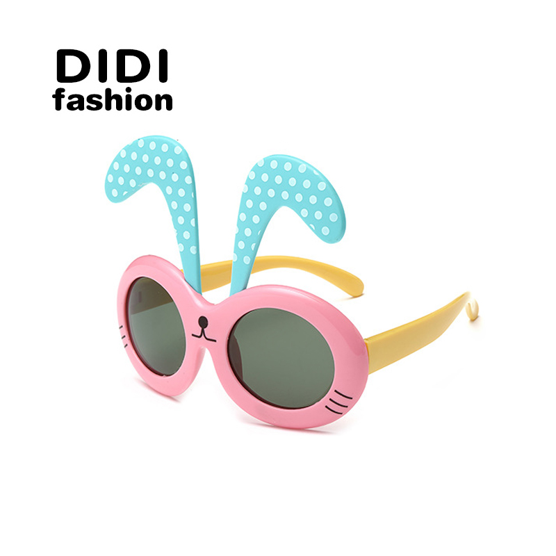 DIDI 2016 kids pc sunglasses children are Polarized Sunglasses cool boy girl classic rabbit model glasses uv400 H120