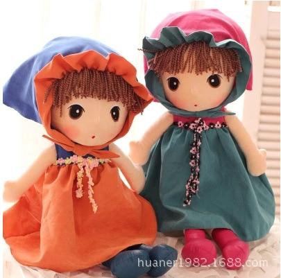 Floor price 40cm Cute fairy little girl plush toys 6 kinds dolls free shopping 1PCS
