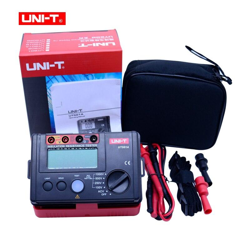 UNI-T UT501A Insulation Resistance Tester 100V--1000V megger Insulation earth ground Resistance meter r Megohmmeter Voltmeter