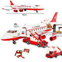 GUDI City Airplane Figure Blocks 856pc Bricks 62cm Long Building Block Classic Birthday Gift Toys For Children
