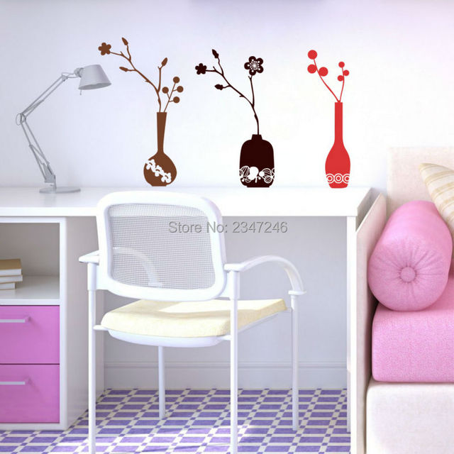 Vaso creativo Wall Sticker Vinile Murales Decorativi Decalcomania ...