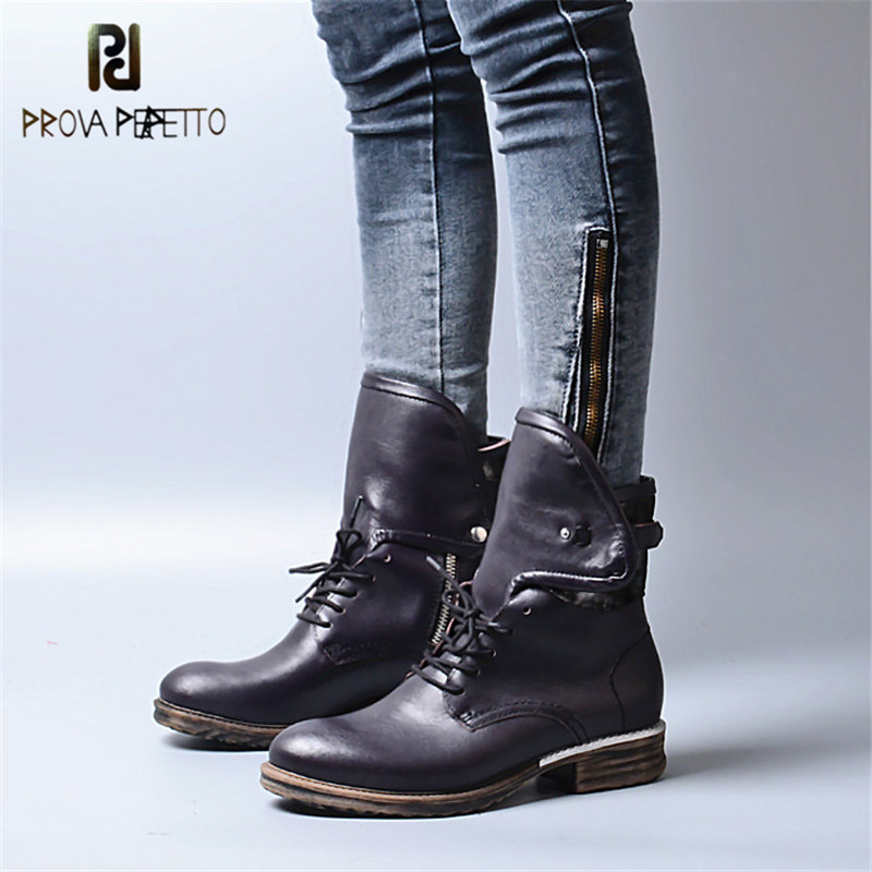 Prova Perfetto Gladiator Antique Neutral Cool Girl Motorcycle Boots Retro Round Toe Zipper Side Full Grain Leather Knight BootsProva Perfetto Gladiator Antique Neutral Cool Girl Motorcycle Boots Retro Round Toe Zipper Side Full Grain Leather Knight Boots