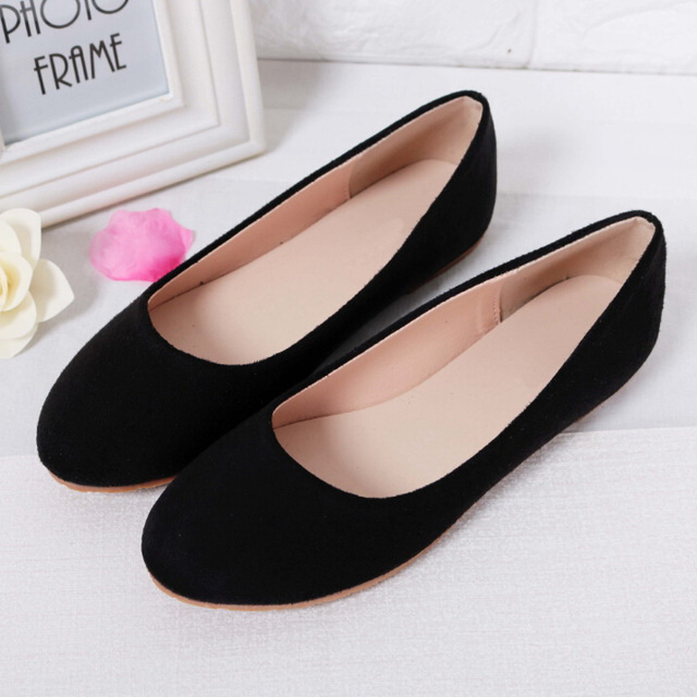 eedff4516ec US $10.89 35% OFF|Spring Summer Ladies Shoes Ballet Flats Women Flat Shoes  Woman Ballerinas Black Large Size 43 44 Casual Shoe Sapato Womens Loafe-in  ...
