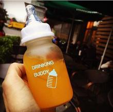 20167 studenten stroh flasche nippel milchglas erwachsene individuelle und kreative tragbare wasser tassen kostenloser versand LXQ 176