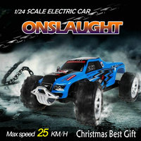 Chirstmas gifts Baby Kids Cars Baby rc toys RC Truck Model Super Speed WLtoys A999 1/24 Proportional High Speed sport Racing Car
