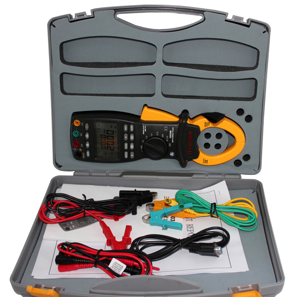 MASTECH MS2203 3 phase TRMS clamp Meter power factor correction RS232 V A W VA VAR kWh H MS2203 цены