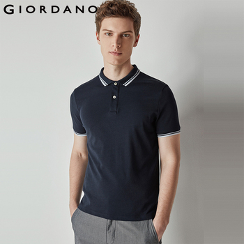 5d3b9c1bf226 Giordano Men Polo Fast Dry Solid Tops Men Short Sleeves Flat Collar Mens  Tops Male Clothing