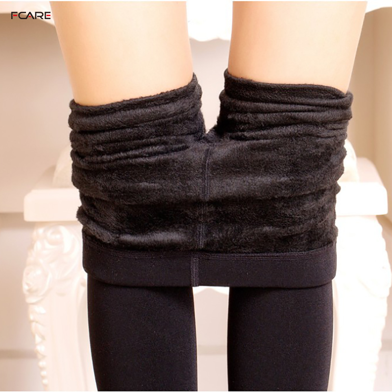 Fcare big large super elastic autumn winter Plus size pantyhose long velvet double crotch pantyhose