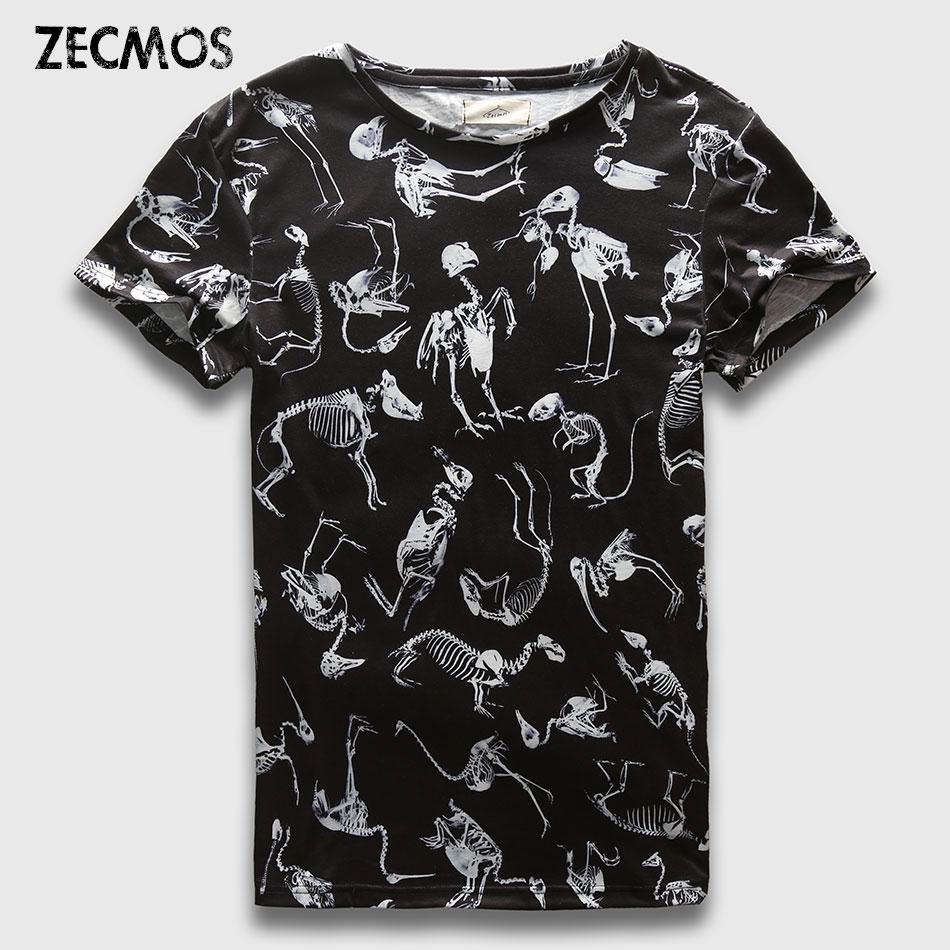 Zecmos Men T-Shirt 3D Animals Street Wear Mens Print T Shirt Hombre Tops Camisetas