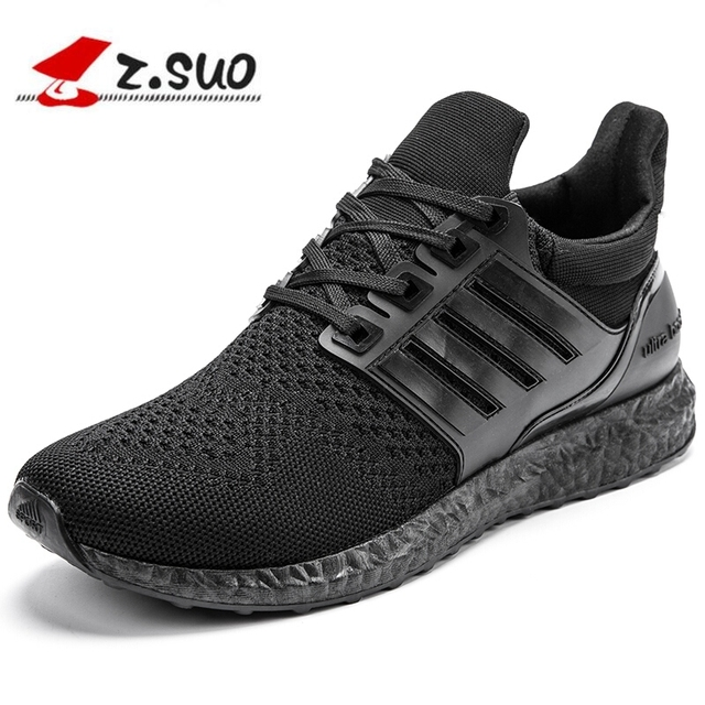 Z.suo 2018 Men Casual Shoes Fashion Pu Leather Solid Flat Comfortable  Breathable Superstar Trainers Red Bottom Ultra Boosts 886409c64