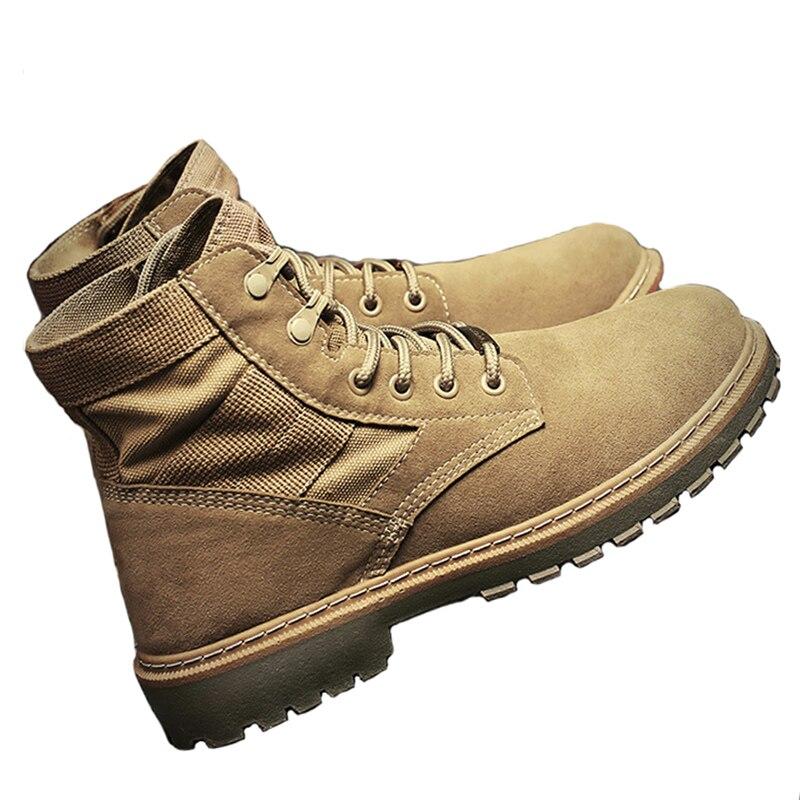 Home 2018 Herbst Männer Martin Stiefel Hohe Starke Plattform Tragen Stiefeletten Sport Schuhe Wüste England Kurze Stiefel Männer Schuhe