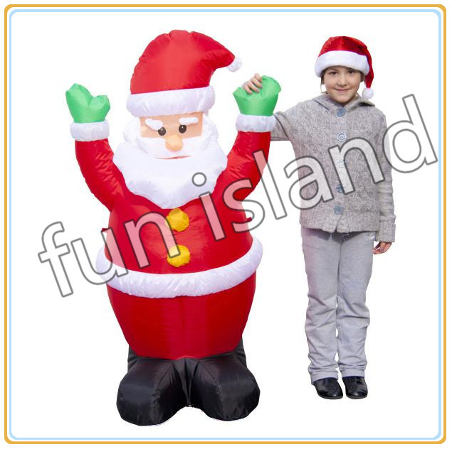 Free shipping wholesale inflatable santa claus 1.2m christmas santa with bulb inside