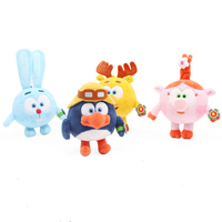 Cute Children Cartoon Pin Code Toys 5 Inches Plush Toys Stuffed Animal Toys Dolls Children Birthday