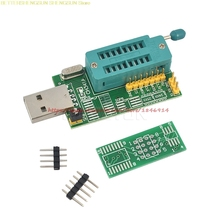 Free Shipping CH341A 24 25 Series EEPROM Flash BIOS DVD USB Programmer W/Software&Driver(C1B5) xgecu v8 05 tl866a tl866ii plus pic avr eeprom bios usb nand flash universal programmer tl866 minipro high speed 14 free items