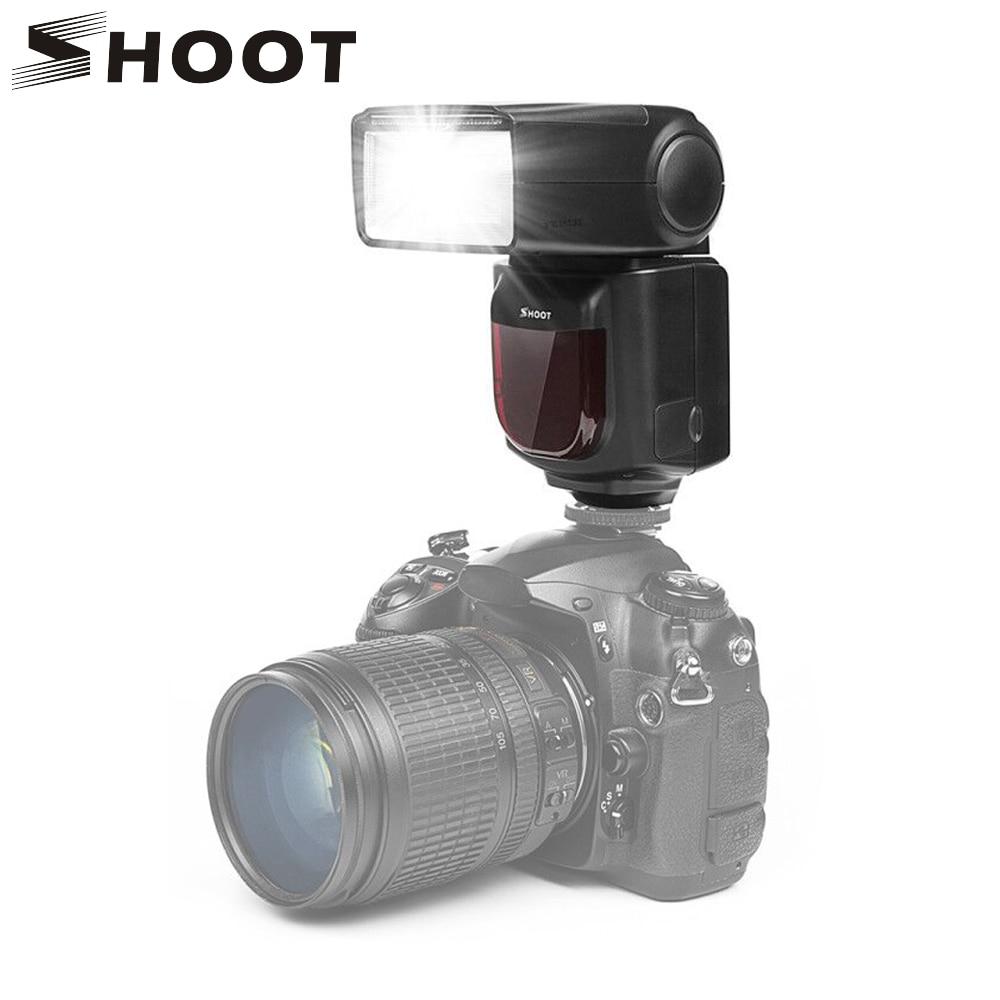 SHOOT LCD Display Speedlite Flash Light para Canon 6D 600D Nikon - Cámara y foto