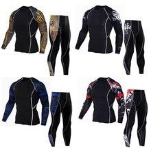 Nuevos conjuntos de ropa interior térmica para hombre, ropa interior térmica de secado rápido y de compresión