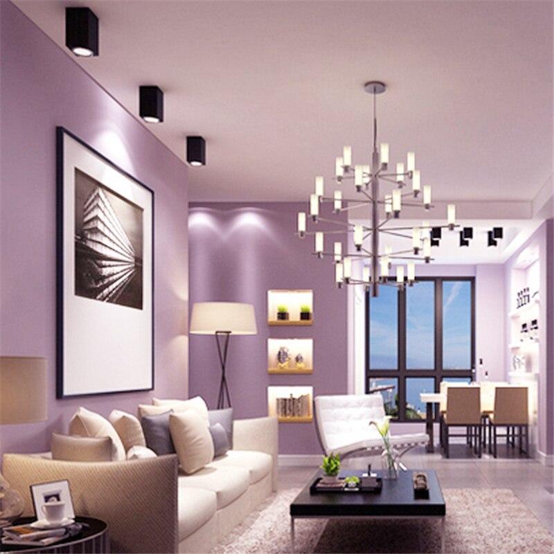 €27.39 32% de réduction|Beibehang solide couleur de mode papier peint salon  étude chambre moderne minimaliste Nordique étanche papier peint papel de ...
