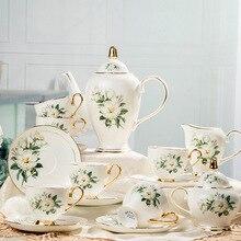 British Royal Porcelain Europe High-Grade Bone China Coffee Cup 3D Color Enamel Porcelain Saucer Coffee Tea Sets For Friend Gift