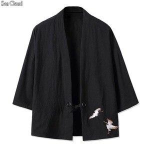 82 Бесплатная доставка Плюс размер XXL-8xl Повседневная Льняная мужская рубашка кардиган мужские военные вышитые рубашки стоячий воротник