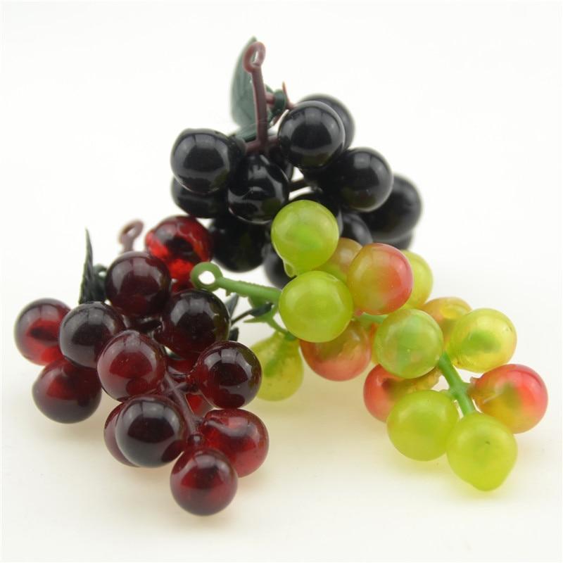 30pcs lot artificial fruit grapes plastic fake decorative for Artificial fruit for decoration
