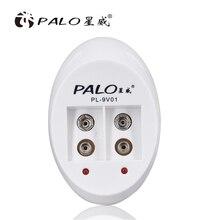 פאלו 2 חריץ 9V נטענת סוללה מטען לni mh Ni CD 9V סוללות