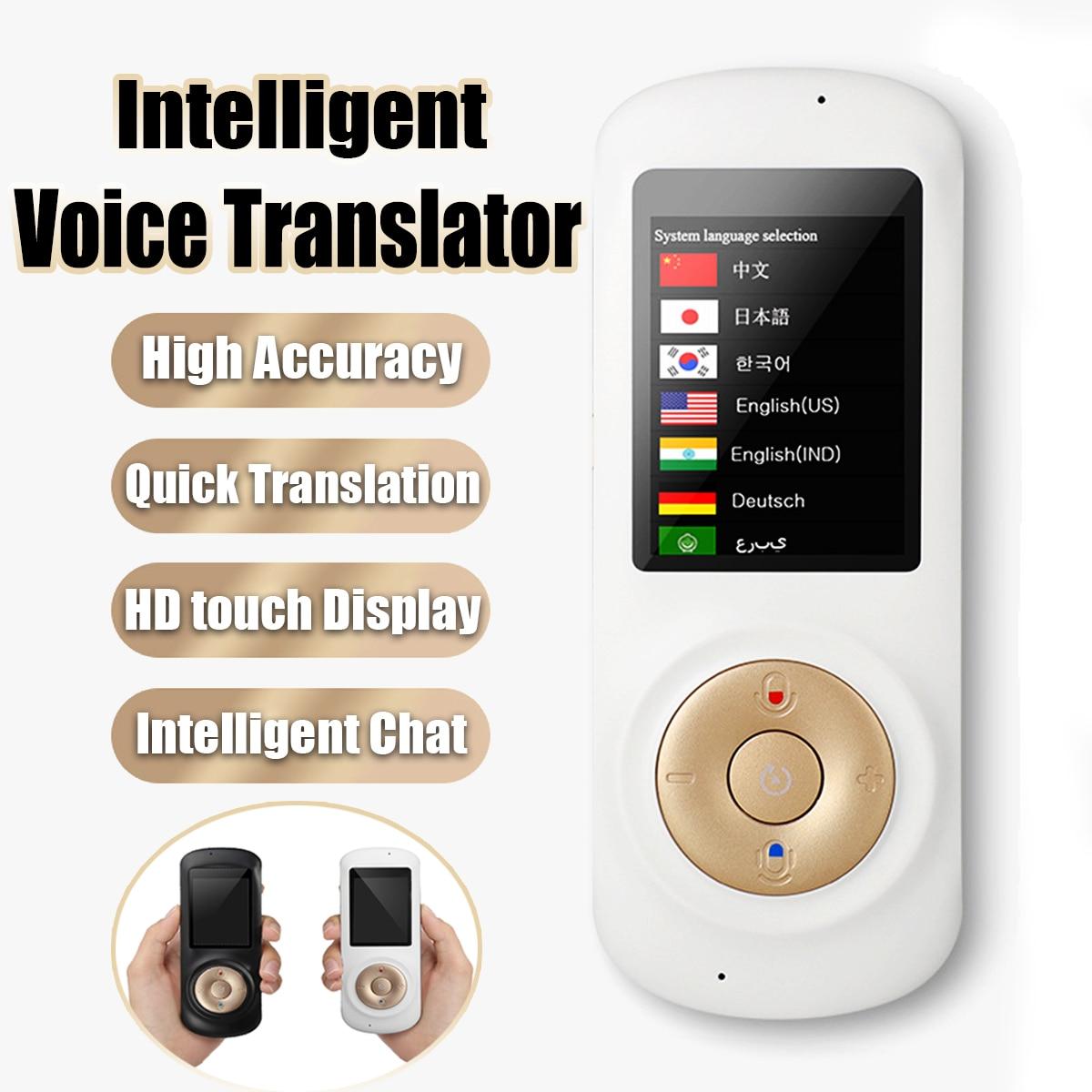 2,4 дюймов умный голос Traductor wifi голосовой переводчик в режиме реального времени 42 многоязычный перевод для путешествий бизнес-обучения