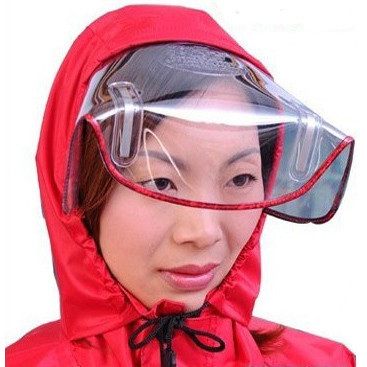 Singleplayer Large motorcycle raincoat car battery moped poncho fashion hat brim