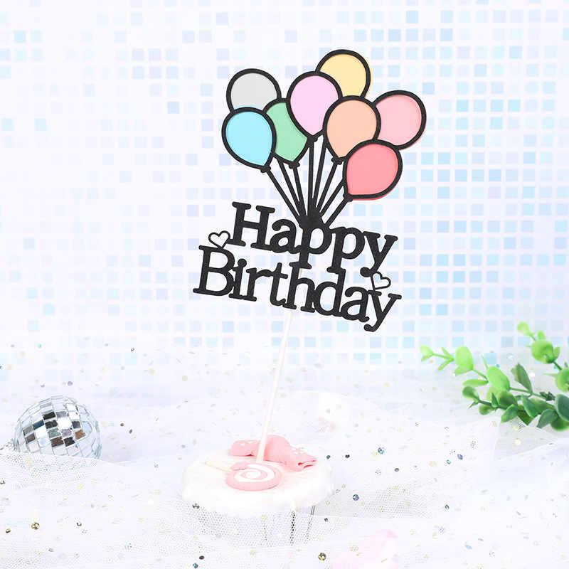 Красочные воздушные шары тема новорожденного ребенка 1 украшение для именинного торта ребенка 100 дней торт украшения вечерние наборы; детский душ