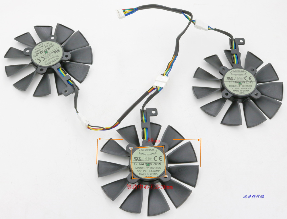 Original for STRIX Raptor GTX980Ti/R9 390X/R9 390 graphics card cooling fan FONSONING computer cooler radiator with heatsink heatpipe cooling fan for msi r9 390x r9 390x gaming grahics card vga cooler
