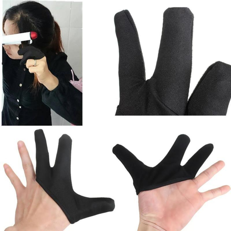 heat glove for hair styling 2pc lot professional heat resistant glove hair styling 6999