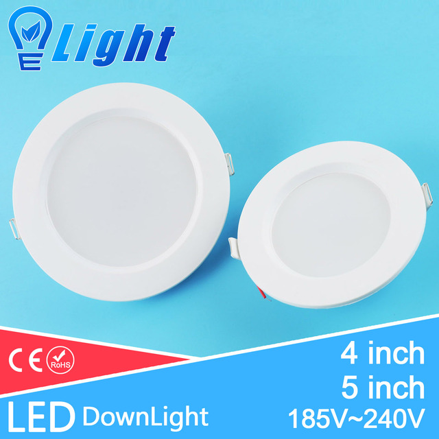 ultra thin 4inch 5inch led downlight 220v 3w 7w recessed light lamp