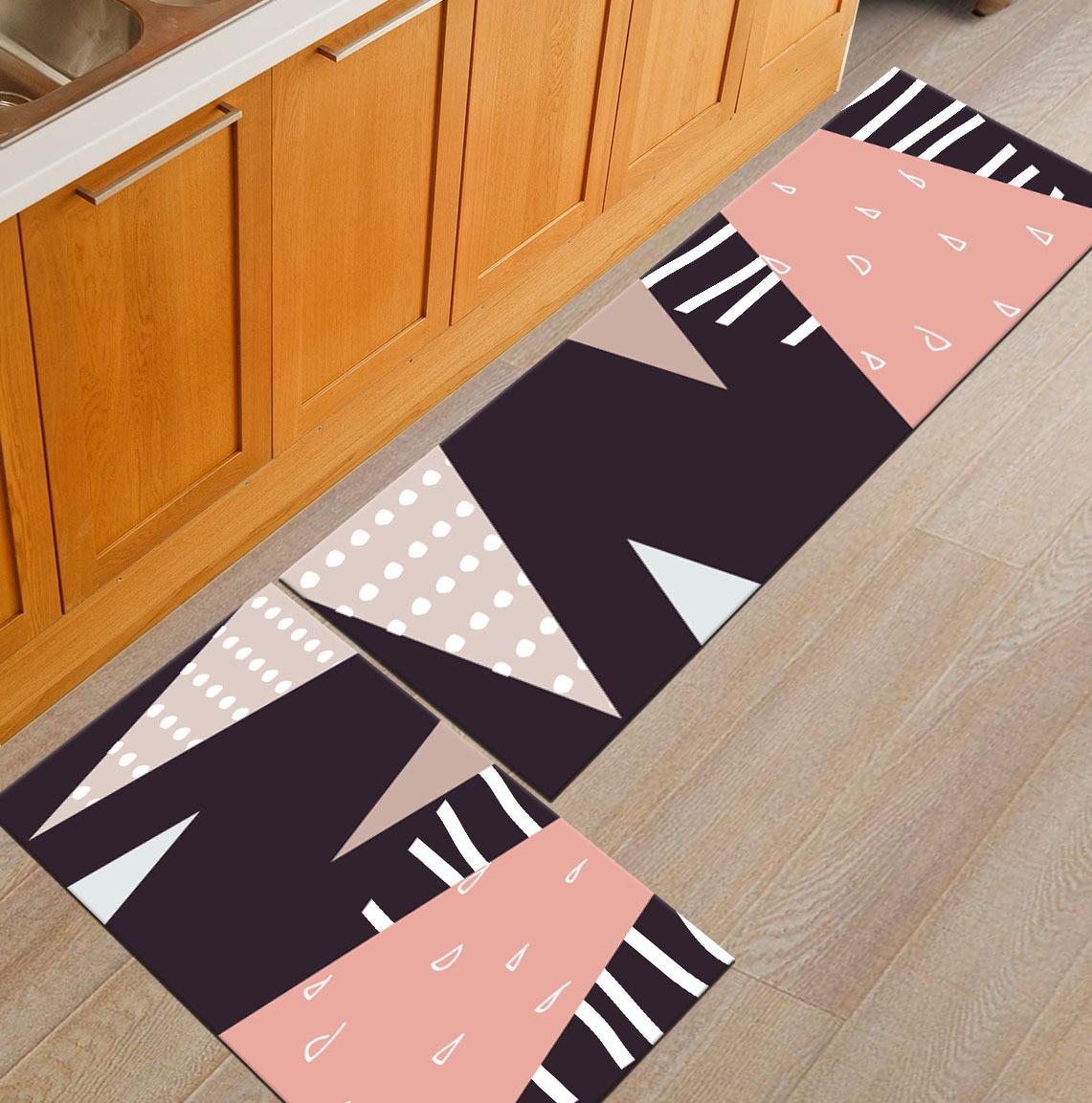 Современный геометрический Коврик для кухни, Противоскользящий коврик для ванной комнаты, домашний Коврик для прихожей/прихожей, коврик для шкафа/балкона, креативный ковер - Цвет: 13