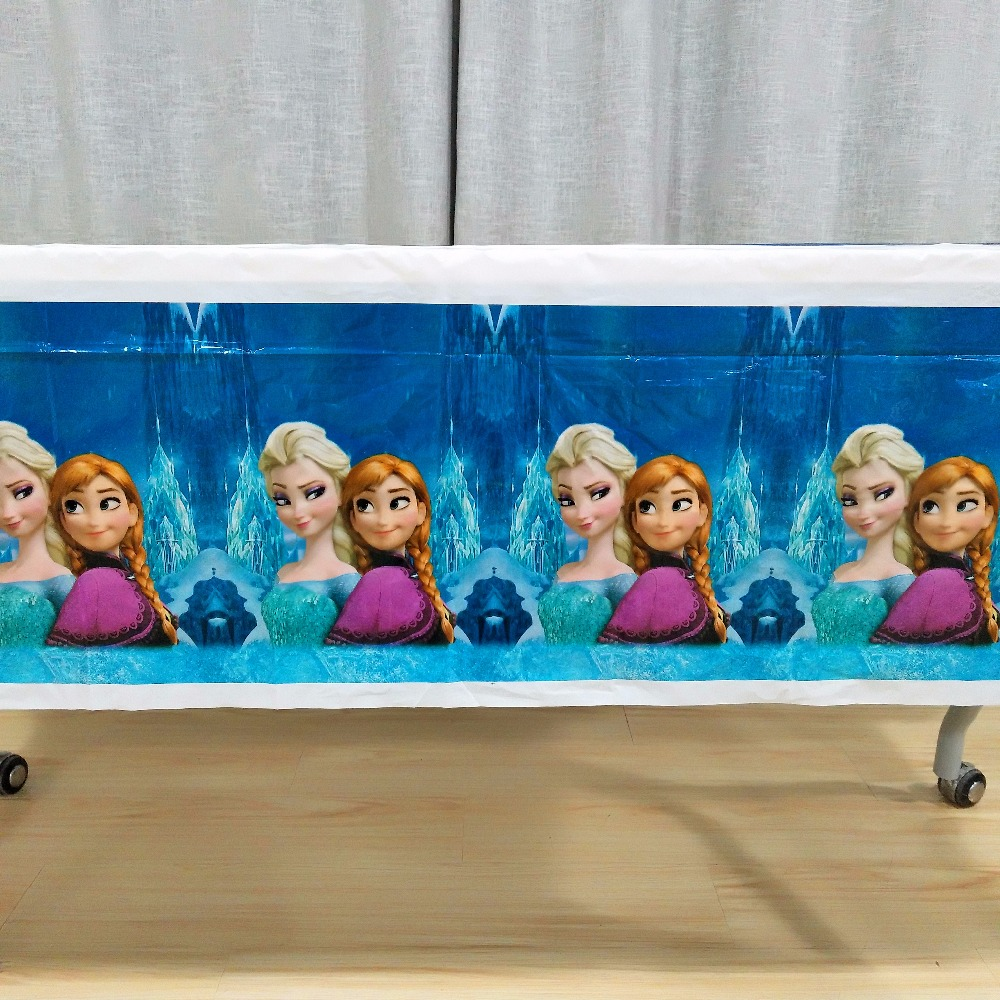 108cm 180cm Frozen Anna And Elsa Party Supplies Tablecloth Favor Kid Girls Birthday Tablecloths Party Festival Decoration in Disposable Party Tableware from Home Garden