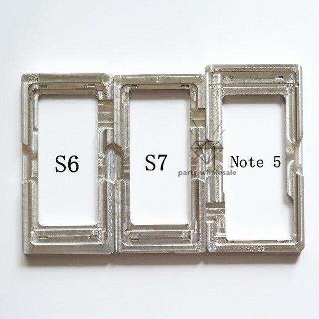 10 ШТ. ЖК Удалить Клей ОСА Поляризационная Пленка Внешний Стекло Плесень держатель Алюминиевые Пресс-Формы Для Samsung Galaxy S6 S7 Note 5 Note5