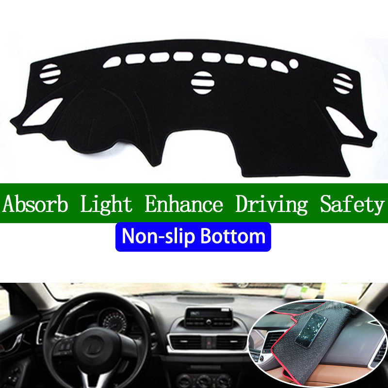 Voor mazda 3 2014 2015 2016 2017 antislip Bodem Dashboard Cover Auto Decals Auto Stickers Interieur Auto Accessoires