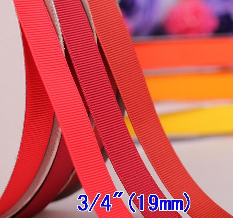 """3/4""""( 19мм) Бренд Сплошной цвет Корсажная лента и подарочные ленты для ремесла Лента для упаковки 100 ярдов/партия Опт"""