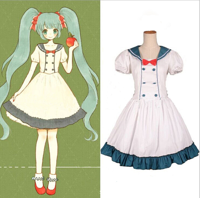 Summer Cute Cotton Lolita Maid Cosplay Dress For Women Alice In Wonderland Costume Anime