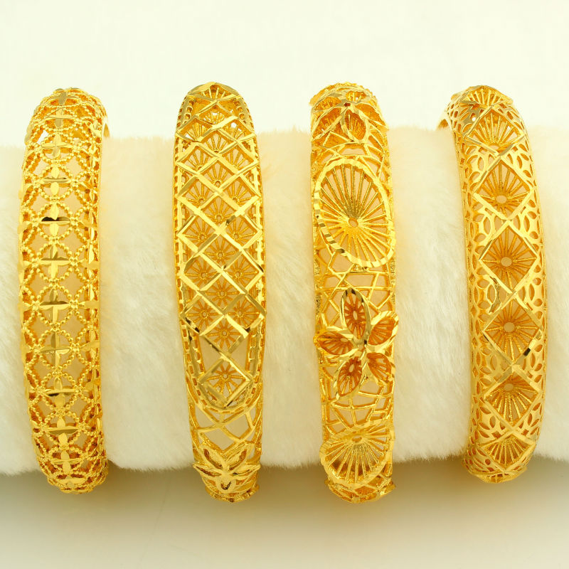New Arrival Dubai Gold Bangles Women Men 24k Color Bracelet African Ethiopian Arab Kenya Middle East Wedding Gifts In From Jewelry