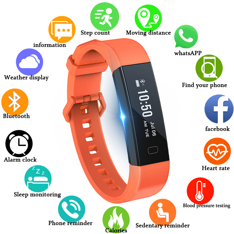 BANGWEI New Listing Men's And Women's Fitness Smart Watches Sedentary Reminder Sports Pedometer Smart Watch Pulsera Inteligente bangwei men women smart watch information vibration reminder sedentary reminder music player fashion fitness smart digital watch