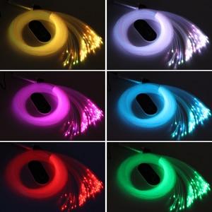 Image 2 - Đèn LED 6W Sợi Quang Đèn RGB Bầu Trời Đầy Sao Hiệu Ứng Âm Trần Bộ Với Cảm Ứng Điều Khiển Từ Xa Cáp 2 M 200 Chiếc 0.75 Mm + Tinh Thể