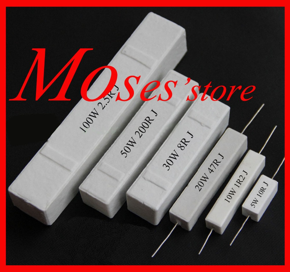 ZXC12XS 10w | 200 220 300 330 390 470 500 560 680 ohm 5% 100% Composition céramique, puissance résistances horizontales,