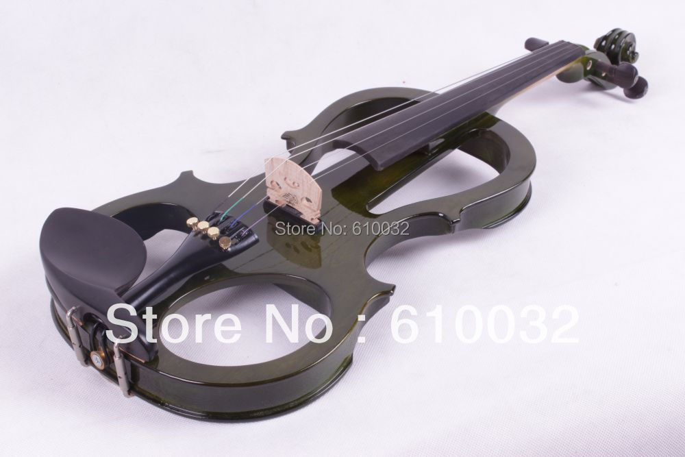 4/4 Electric Violin Solid wood 4 --1# silvery dark green    color    string 4 4 electric violin solid wood 6 21 silvery brown color 4 string