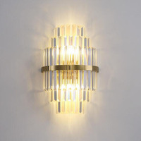 Gold Crystal Wall light Bedroom Lighting Living Room LED Headboard Wall Lamp Wall Decoration Fixtures