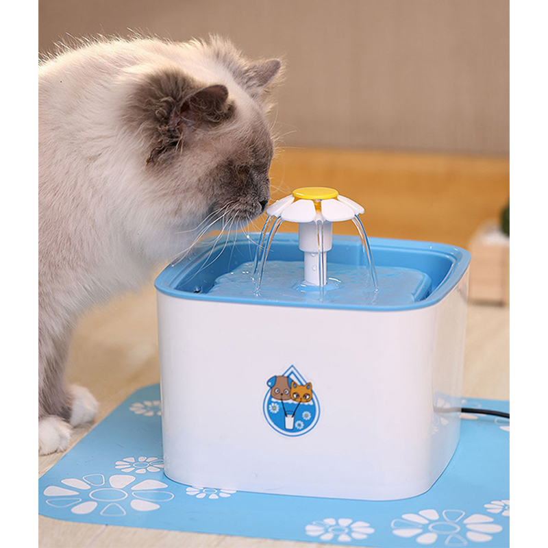 Pet Friend Cat Fountain 2 Litre Clean Purified Fresh Water Drinking Bowl For And Cat Supplies