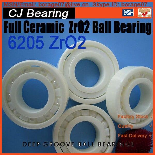 Full ceramic bearings 1pc 6205 zro2 materials 25*52*15mm full ceramic bearings 1pc 6205 zro2 materials 25 52 15mm