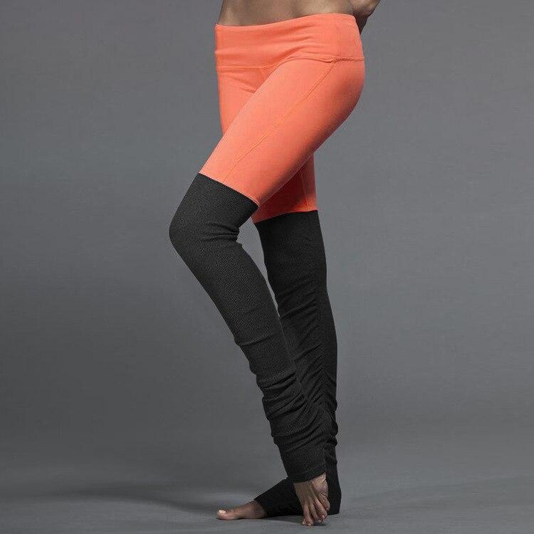 9f79ca8a091b1 US $18.99 |JIGERJOGER frauen Yoga Hosen Plus Größe Neon Orange Vs Schwarz  Patch faltig Gefaltet Hoher taille Quick Dry Outfit Legging in JIGERJOGER  ...