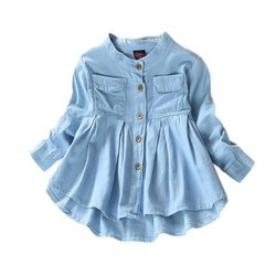 Baby girls jeans shirts children long sleeve denim girl cute fashion clothing for spring autumn.jpg 250x250