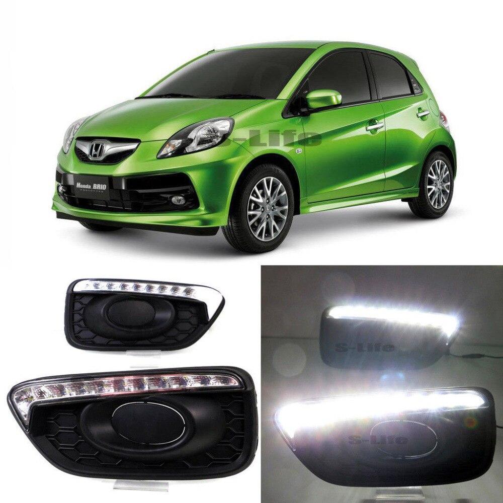 Тип Ауди А5 светодиодные фары дневного света функцию поворота световой сигнал для Honda города 2015-2017